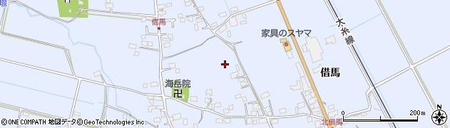 長野県大町市平(借馬)周辺の地図
