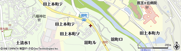 石川県金沢市舘町周辺の地図