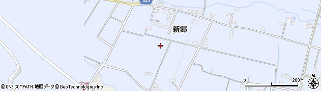 長野県大町市平(新郷)周辺の地図