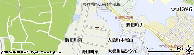 石川県金沢市野田町(東)周辺の地図