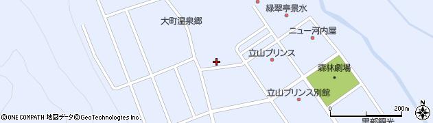 長野県大町市平(大町温泉郷)周辺の地図