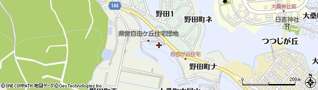 石川県金沢市大桑町(中尾山)周辺の地図