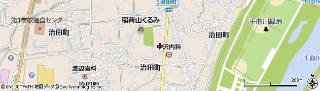 長野県千曲市稲荷山(治田町)周辺の地図