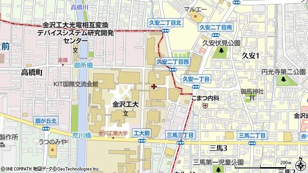 〒921-8811 石川県野々市市高橋町の地図
