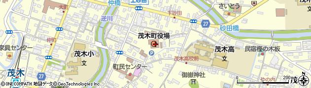 栃木県芳賀郡茂木町周辺の地図