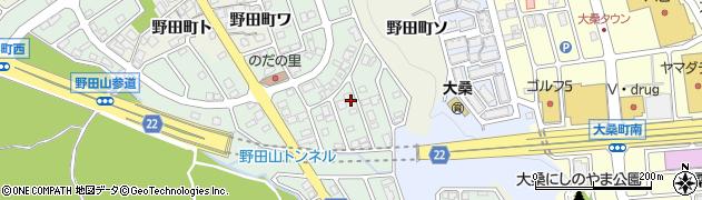 石川県金沢市野田周辺の地図