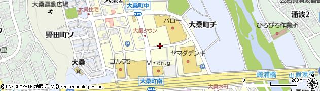 石川県金沢市大桑周辺の地図