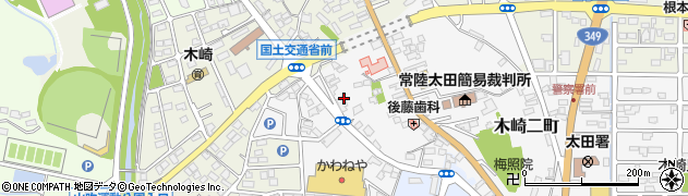 茨城県常陸太田市木崎二町周辺の地図