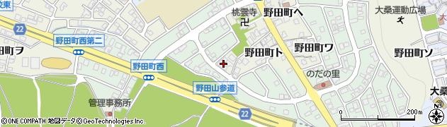 石川県金沢市野田町(レ)周辺の地図