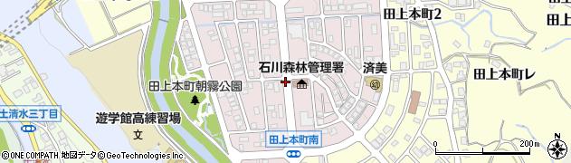 石川県金沢市朝霧台周辺の地図