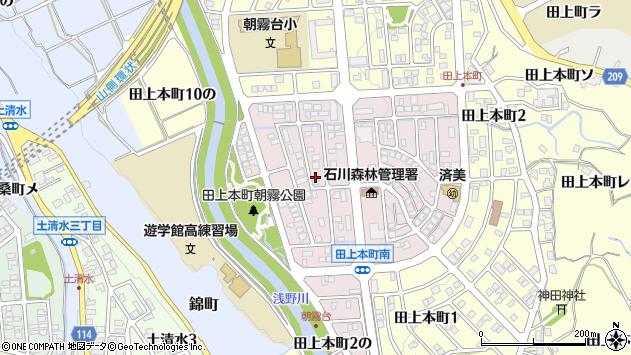 〒920-1158 石川県金沢市朝霧台の地図