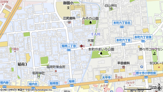 〒921-8805 石川県野々市市稲荷の地図