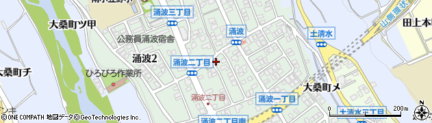 石川県金沢市涌波周辺の地図