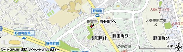 桃雲寺周辺の地図