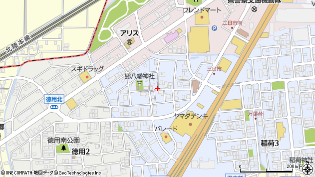 〒921-8806 石川県野々市市三日市の地図