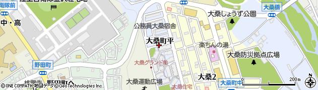 石川県金沢市大桑町(平)周辺の地図