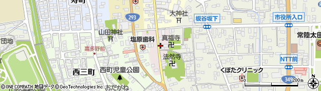 茨城県常陸太田市東三町周辺の地図