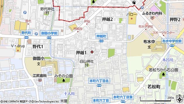 〒921-8803 石川県野々市市押越の地図