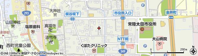 茨城県常陸太田市金井町周辺の地図