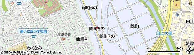 石川県金沢市錦町(5の)周辺の地図