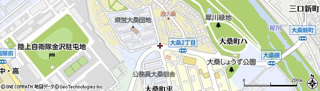 大桑町周辺の地図