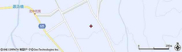 長野県大町市平(中花見)周辺の地図