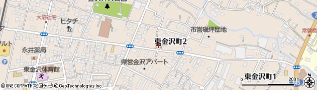 茨城県日立市東金沢町周辺の地図