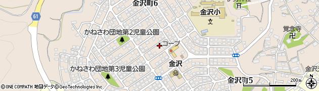 茨城県日立市金沢町周辺の地図