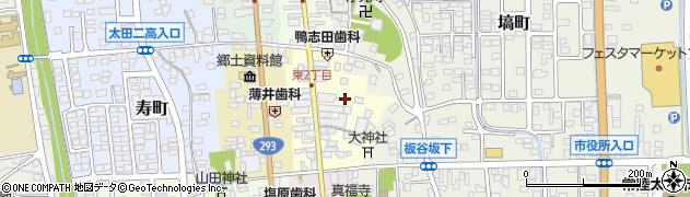 茨城県常陸太田市東二町周辺の地図