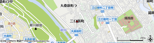 石川県金沢市三口新町周辺の地図