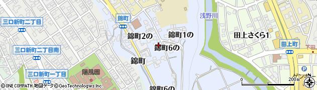 石川県金沢市錦町(6の)周辺の地図