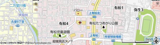 石川県金沢市有松周辺の地図