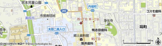 茨城県常陸太田市西一町周辺の地図