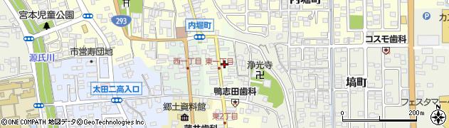 茨城県常陸太田市東一町周辺の地図