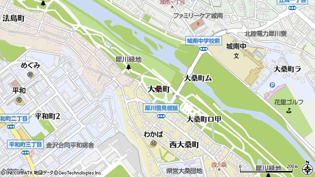 〒921-8046 石川県金沢市大桑町御所谷の地図