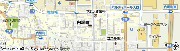 茨城県常陸太田市内堀町周辺の地図