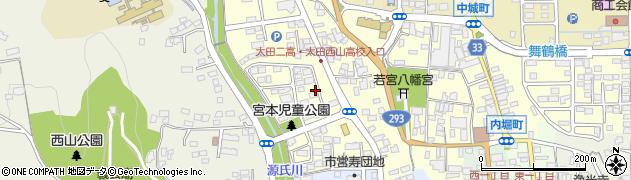 茨城県常陸太田市宮本町周辺の地図