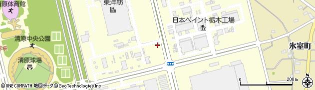 栃木県宇都宮市清原工業団地周辺の地図
