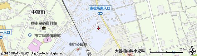 茨城県常陸大宮市南町周辺の地図