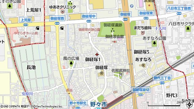 〒921-8801 石川県野々市市御経塚の地図