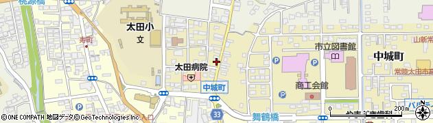 茨城県常陸太田市中城町周辺の地図