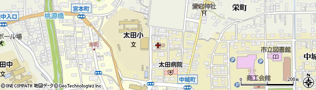 常陸太田市 太田公民館周辺の地図