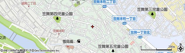 石川県金沢市笠舞本町周辺の地図