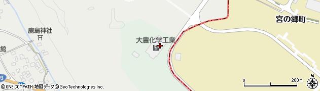 茨城県常陸大宮市宮の郷周辺の地図