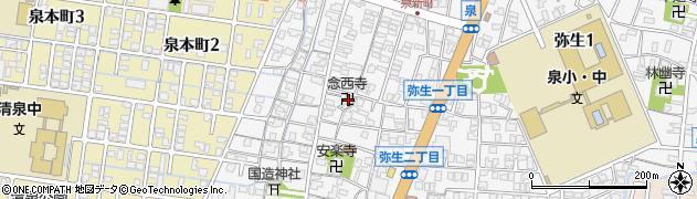 念西寺周辺の地図