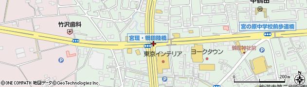 宮環鶴田陸橋周辺の地図