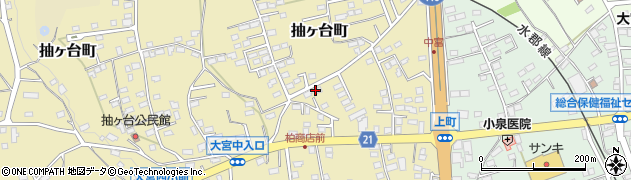 茨城県常陸大宮市抽ヶ台町周辺の地図