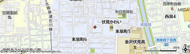 石川県金沢市米泉町周辺の地図