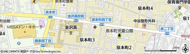 石川県金沢市泉本町周辺の地図