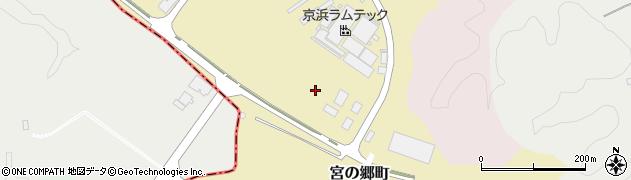 茨城県常陸太田市宮の郷町周辺の地図